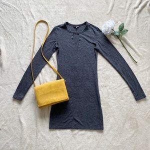 Aritzia Wilfred Dress Grey Longsleeve
